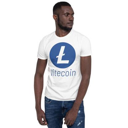 Litecoin (LTC) - unisex t-shirt - color design - white